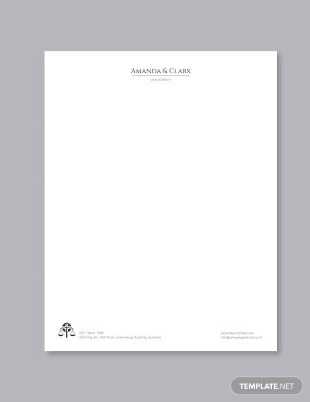 legal letterhead template1