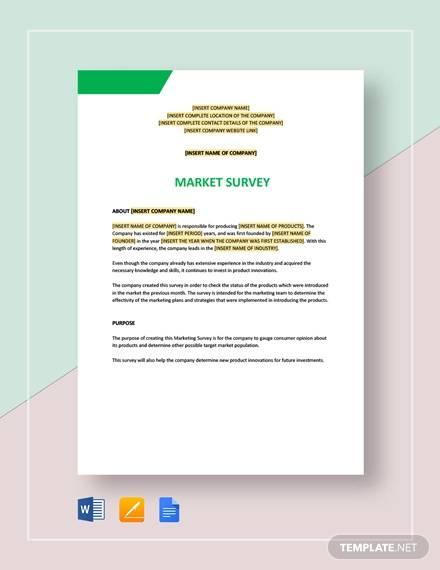 market survey template1