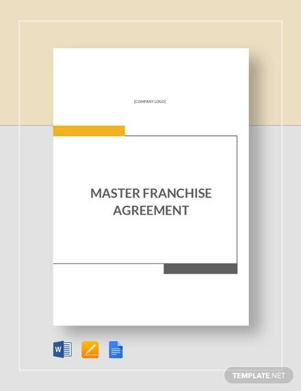master franchise agreement template1