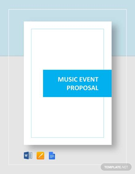 music event proposal template
