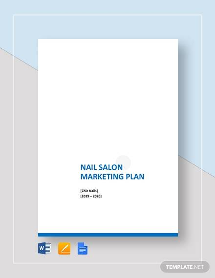 nail salon marketing plan template