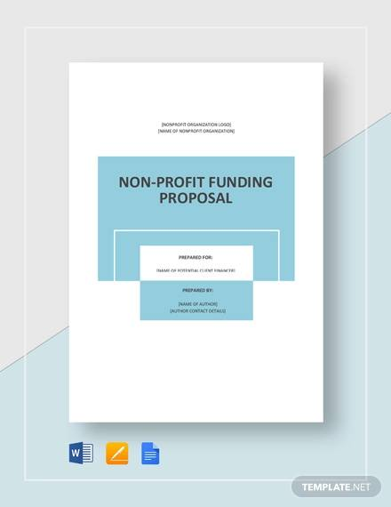 nonprofit fundraising proposal template