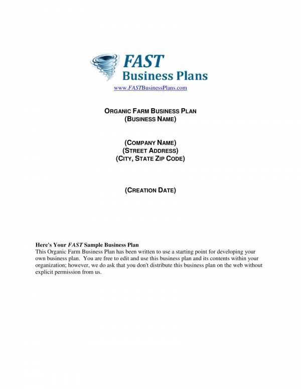 organic farm business plan template 01