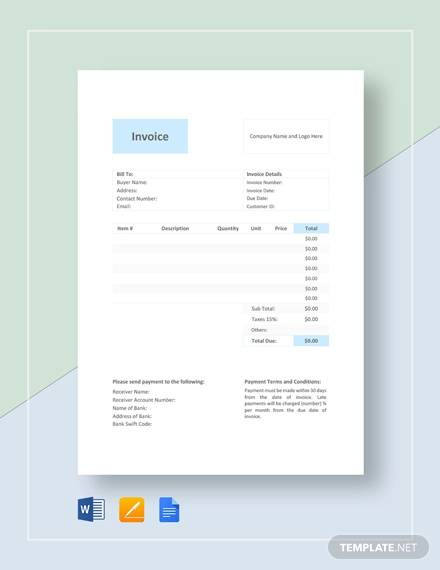 Wedding Photography Invoice: FREE 10+ Photography Invoice Samples In Google Docs