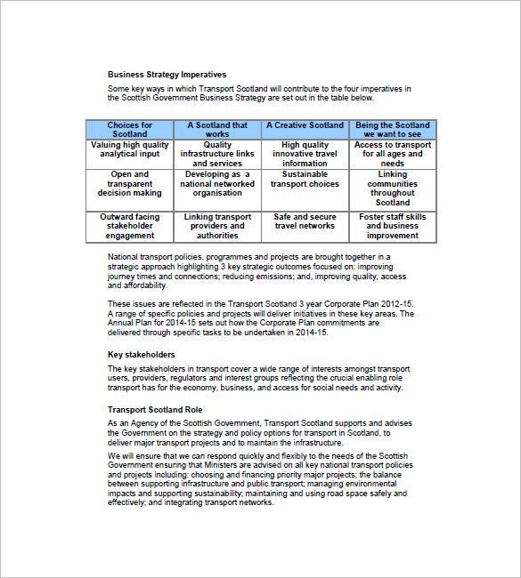 transport service business plan sample