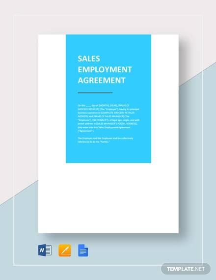 sales employment agreement template1