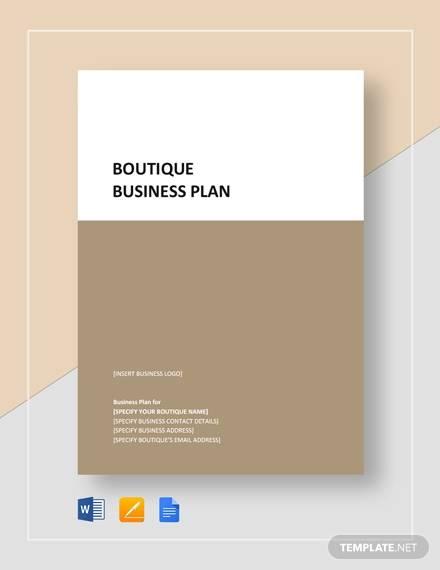 sample boutique business plan
