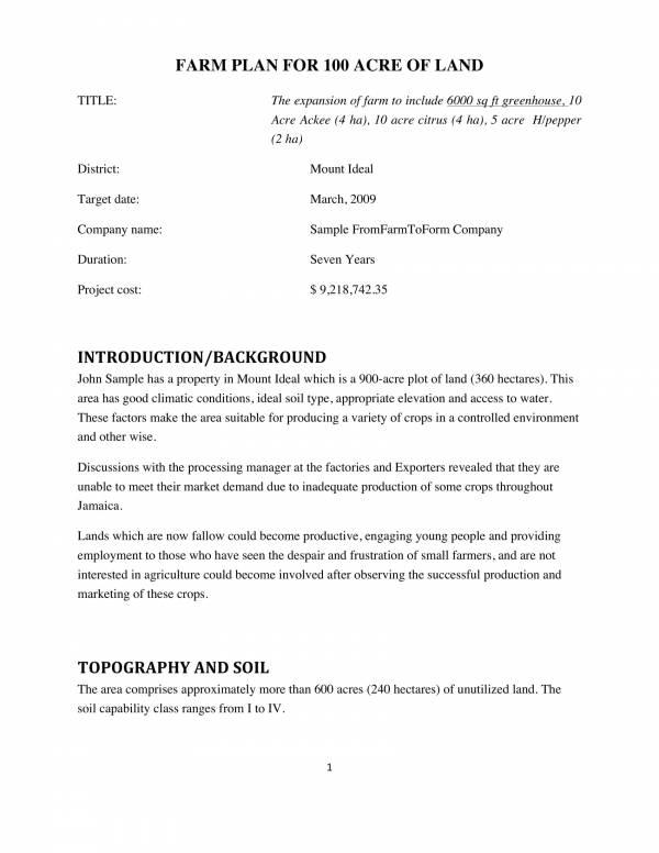 sample farm business plan 01
