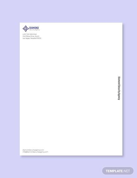 security company letterhead template