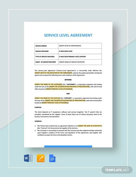 Free 23 Service Agreement Templates And Samples In Pdf Ms Word