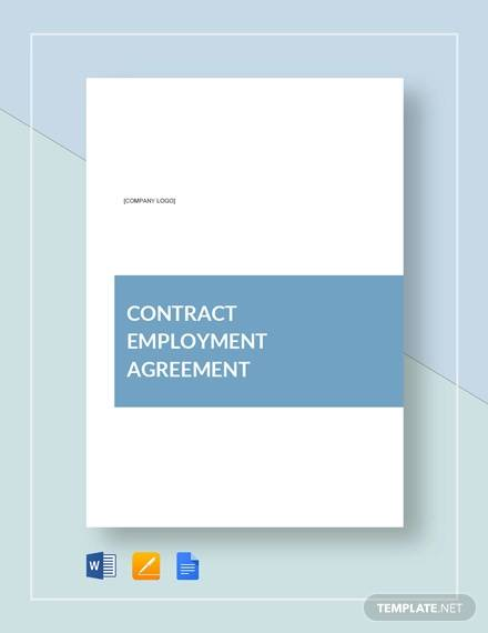 simple contract employment agreement template