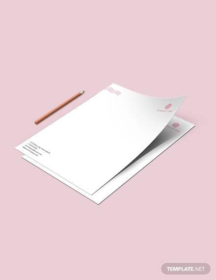 spa letterhead template