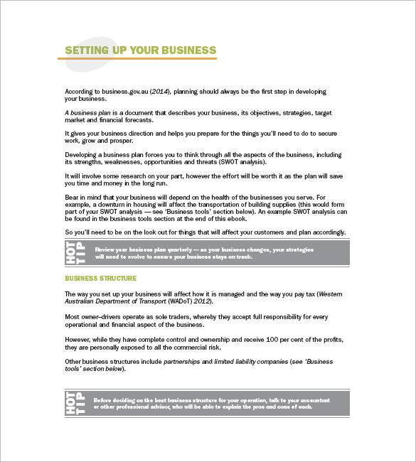 fill in the blank free business plans for trucking company