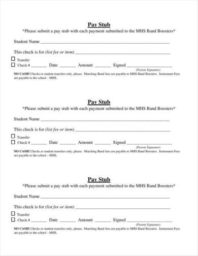 basic pay stub template