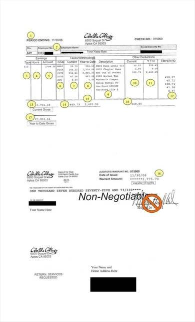 blank pay stub sample template