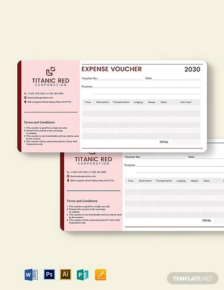 cash expense voucher template