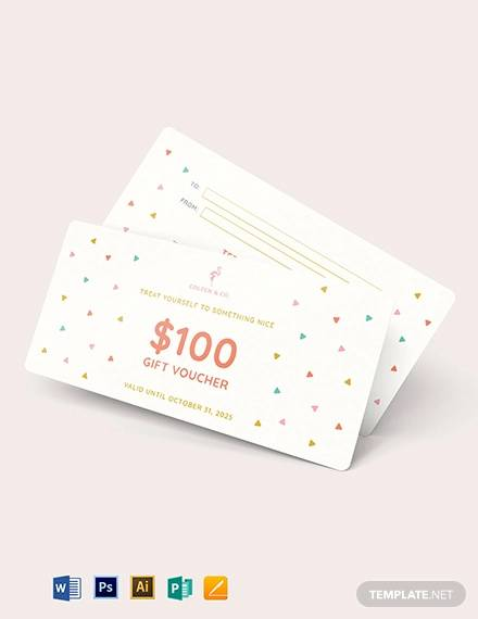 cash gift voucher template