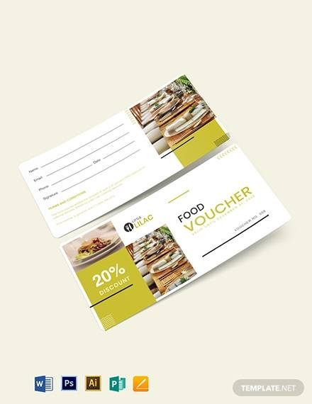 catering food voucher template