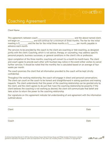 client coaching agreement contract template 1