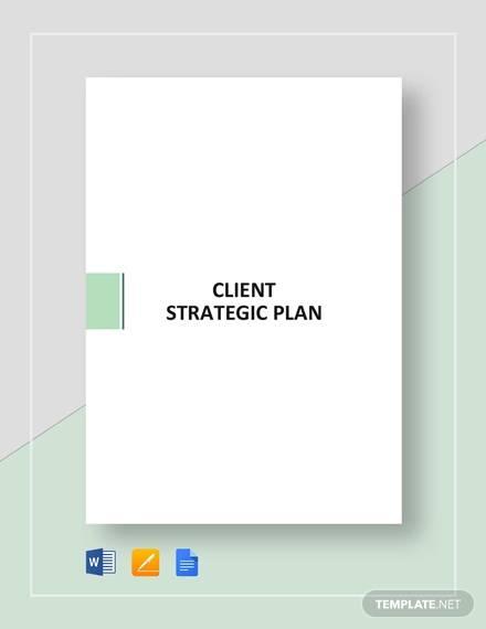 client strategic plan template