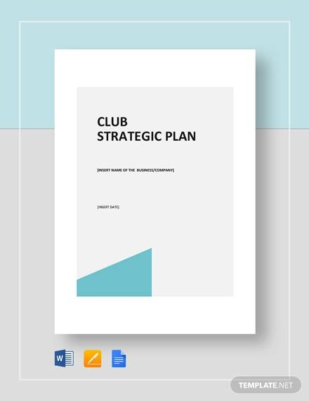 club strategic plan template