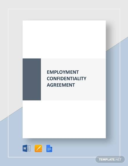 employment confidentiality agreement template2