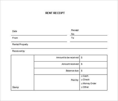 generic car rental receipt sample template