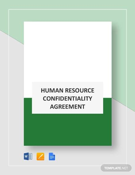 hr confidentiality agreement template1