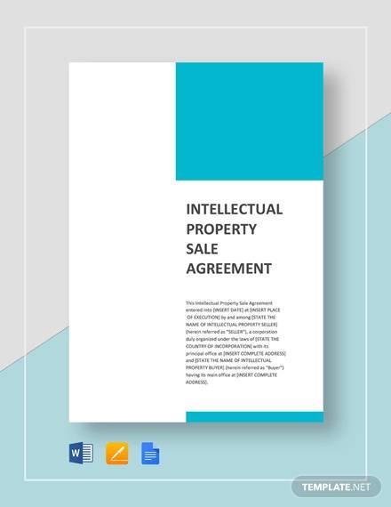 ip sale agreement template