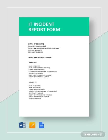 it incident report