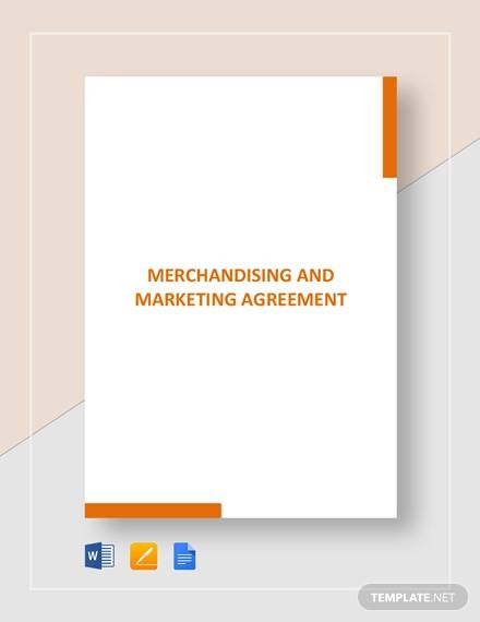 merchandising and marketing agreement template