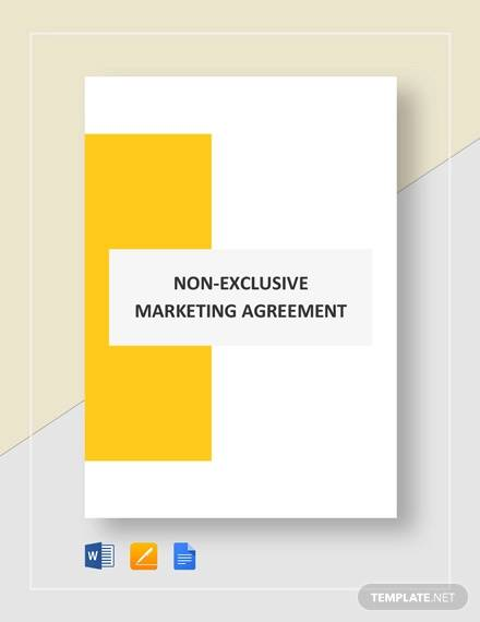 non exclusive marketing agreement template