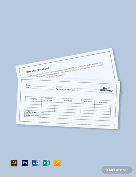 office expense voucher template