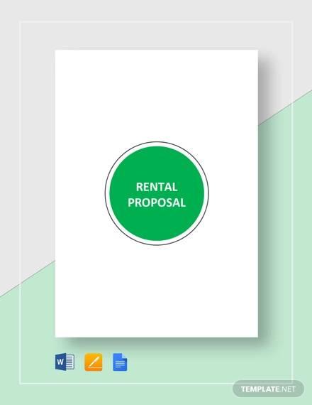 rental proposal template