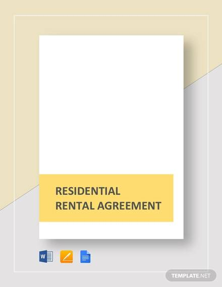 residential rental agreement template