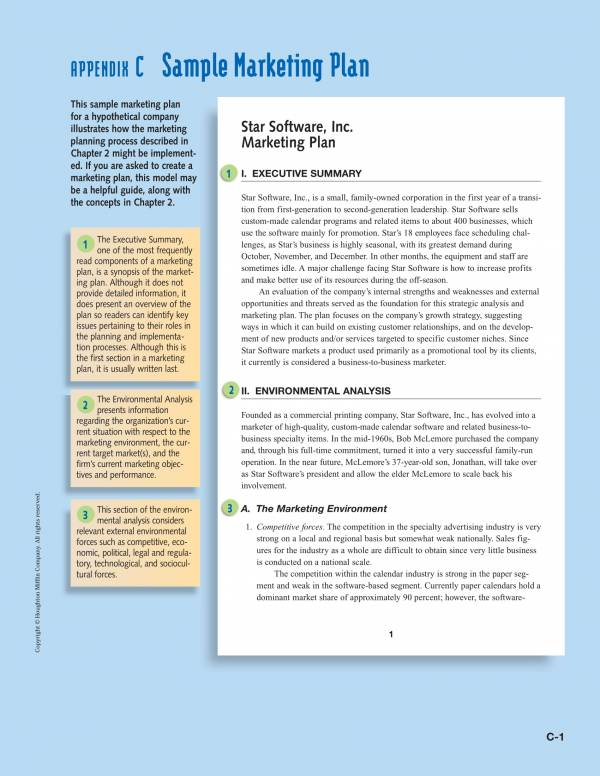 sample marketing business plan 01