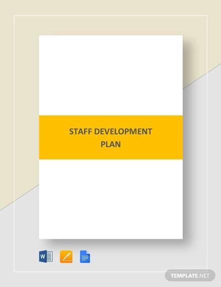 staff development plan template1