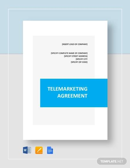 telemarketing agreement template