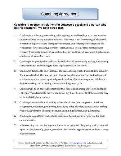 two page coaching contract sample 1