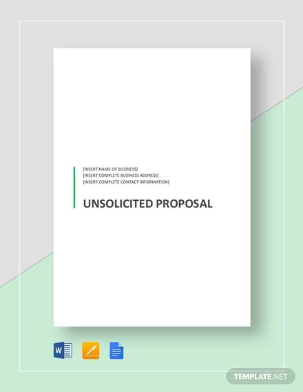 unsolicited proposal template