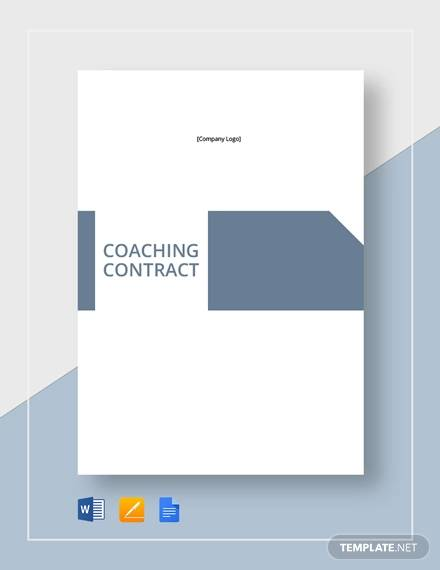 coaching contract