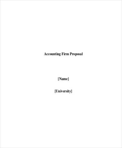 accounting firm proposal sample