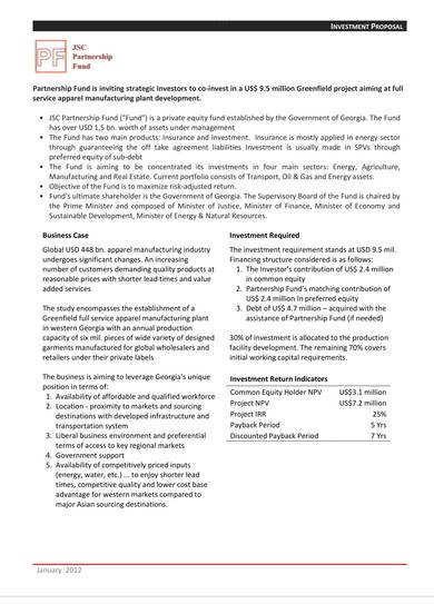 apparel business investment proposal template 05