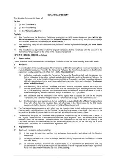 basic novation agreement template 1