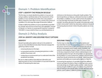 cdc policy analysis framework