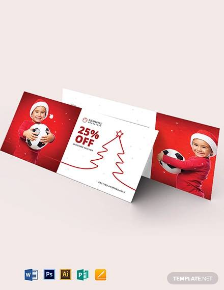 christmas football gift voucher template