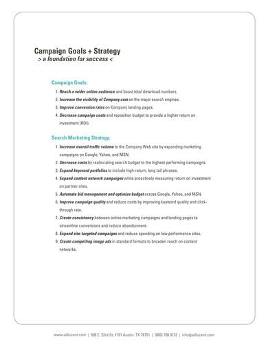 company email marketing proposal template