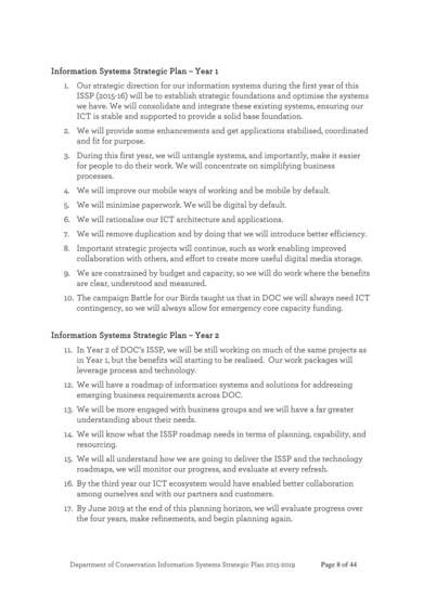 doc information systems strategic plan sample template 08
