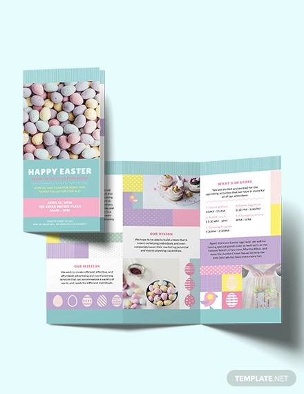 easter tri fold brochure template