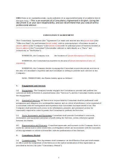 editable consulting services agreement sample